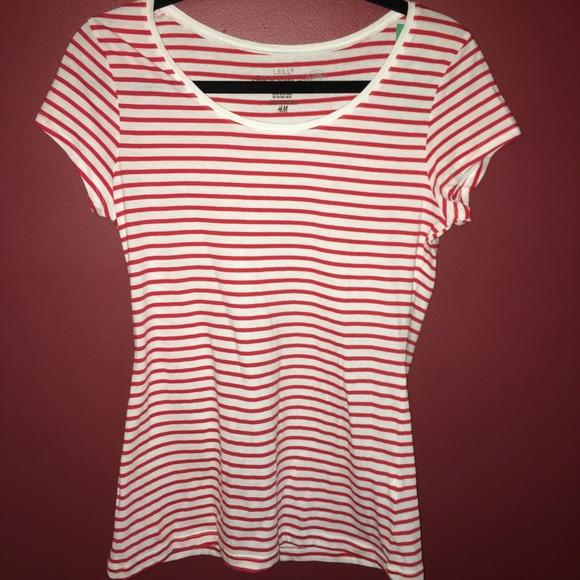 417e89b62e H&M Tops   Hm Striped Tee   Poshmark